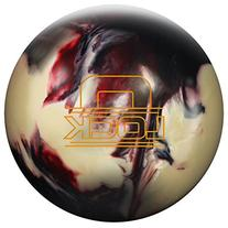 Storm The Lock Bowling Ball, Black/White/Crimson, 15 lb