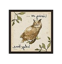 Greenleaf Art Lodge Live Owl Framed Canvas Art
