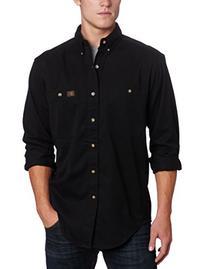 Wrangler Men's Logger Shirt,Black,XX-Large/Regular