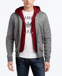 Armani Jeans Men's Logo Layered Hoodie