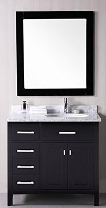 London 36 Single Sink Vanity Set, Espresso
