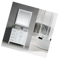 London 36 Single Sink Vanity Set, White