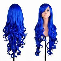 """32"""" Long Hair Heat Resistant Spiral Curly Cosplay Wig Dark"""