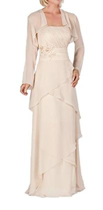 CCHAPPINESS Women's Long Mother of the Bride Dress with