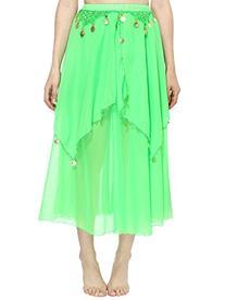 Simplicity Long Sheer Flowy Chiffon Belly Dance Skirt