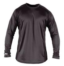 Rawlings Boy's Long Sleeve Baselayer Shirt, Grey, Small