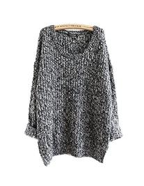 Oulifa Womens Long Sleeve Cardigan Hollow Knit Pullovers