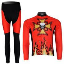 Baleaf Mens Long Sleeve Cycling Jersey Devil Style Size XL