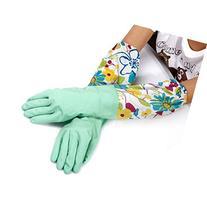 UZZO Long Sleeve Flower latex Kitchen Wash Dishes