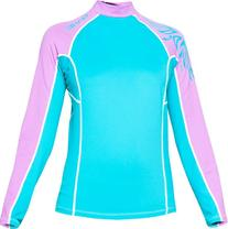 Bare Womens Long Sleeve Lycra Skin Sunguard Rash Guard -