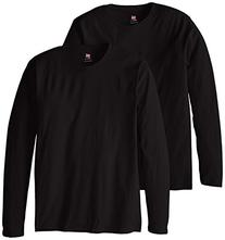 Hanes Men's Long Sleeve Nano Cotton Premium T-Shirt Pack of