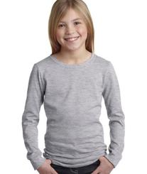 Next Level Girls Long Sleeve T-Shirt, Purple, Size Small