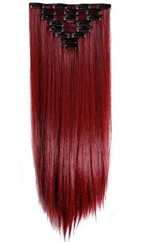 S-noilite 26 Inches Long Straight Maroon Mix Dark Red Full
