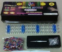 Loom Bracelet Making Kit Includes 600 Rubber Bands, S-clips