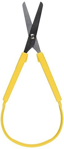 School Smart Loop Scissors - 8 inches - Yellow