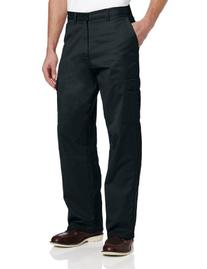 Dickies Men's Loose Fit Cargo Work Pant, Black, 30W x 32L