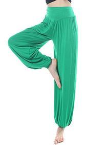 ABUSA Women's Loose Fitness Harem Dance Yoga Pants Large