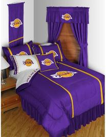 Los Angeles Lakers 5pc Long Curtain-Drapes Valance Set
