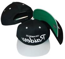 Los Angeles Raiders Black/Silver Two Tone Plastic Snapback
