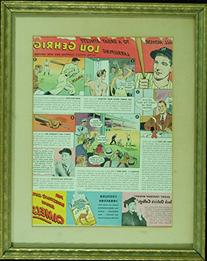 Lou Gehrig Camel Cigarette Advertisement in Frame