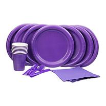 Lovely Purple Party Set! Includes Purple Dinner Plates,