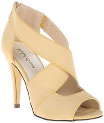Michael Antonio Women's Lovey Dress Sandal, Natural, 9 M US