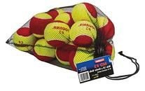 Tourna Low Compression Stage 3 Tennis Ball with Mesh Bag