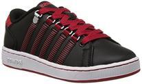k-SWISS Lozan Sneaker , Black/Mars Red, 3 M US Little Kid