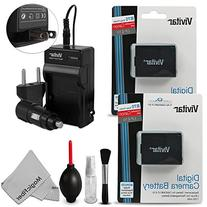 2 Pack Vivitar LP-E10 Battery and Charger Kit for Canon EOS