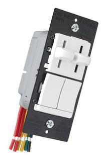 Pass & Seymour LSDC163PWV Dual Control Slide Preset Single