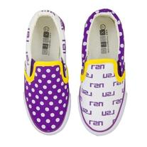 LSU Tigers Canvas Slip-On Tennis Shoes for Toddlers Purple