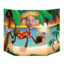 Luau Monkey Photo Property, 3-Feet 10-Inch by 25-Inch,