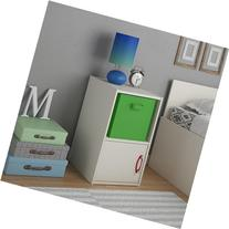 Lucerne Nightstand by Altra, White Stipple