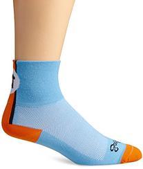 SockGuy Men's Lucky 13 Socks, Light Blue, Sock Size:10-13/