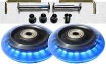 Luggage Lighted Wheel Set - Blue Color Lights --76mm Wheel