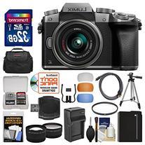 Panasonic Lumix DMC-G7 4K Wi-Fi Digital Camera & 14-42mm Lens  with 32GB Card + Case + Battery & Charger + Tripod + Tele/Wide Lenses Kit