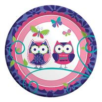 7 inch Lunch Plates Owl Pal Birthday 96 Ct