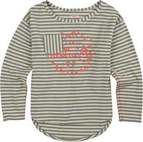 BURTON Girls Lush Knit Long Sleeve Top, Monument Honey