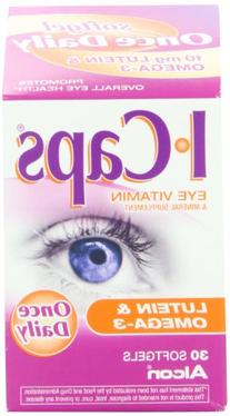 Icaps Lutein and Omega-3 Eye Vitamin and Mineral Supplement