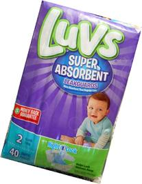 Luvs Super Absorbent Leakguard Size 2 Diapers 40 Count