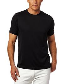 Perry Ellis Men's Luxe Crew Neck Tee, Black, XX-Large