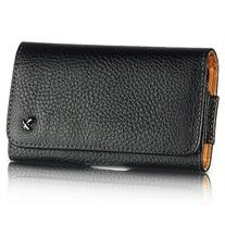Luxmo LU4HBK Horizontal Leather Pouch Belt Clip Holster