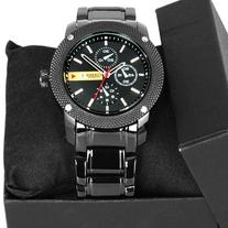 Viliysun Mens Quartz Watch Stainless Steel Strap Army Auto