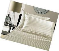 Luxury 100% Egyptian Cotton 500 Thread Count Damask Stripe