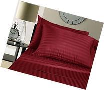 Egyptian Cotton 500 Thread Count Damask Stripe Sheet Set,