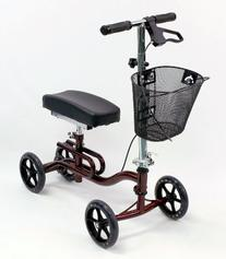 Karman Luxury Lightweight 4-Wheeled Knee Walker with Basket
