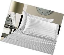 Luxury 100% Supima Cotton Damask Stripe 500 Thread Count