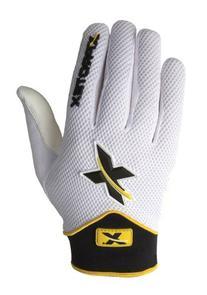 Xprotex Men's Lyte White/Black Batting Glove, Medium