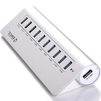 ORICO Aluminum 10 Port Super Speed USB 3.0 Hub with 7 USB3.0