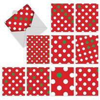 M6013 HOLIDOTS: 10 Assorted Blank Note Cards w/Matching